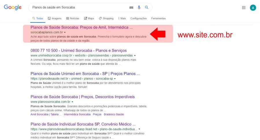 1 Página do Google de Sorocaba