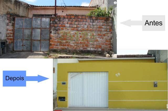 Restauração de casa em Sorocaba Antes e Depois
